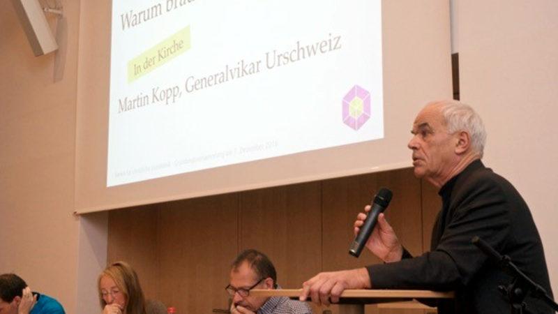 Generalvikar Kopp anlässlich der Gründung des «Vereins für christliche Sozialethik» | © Christina Sasaki-Wallimann