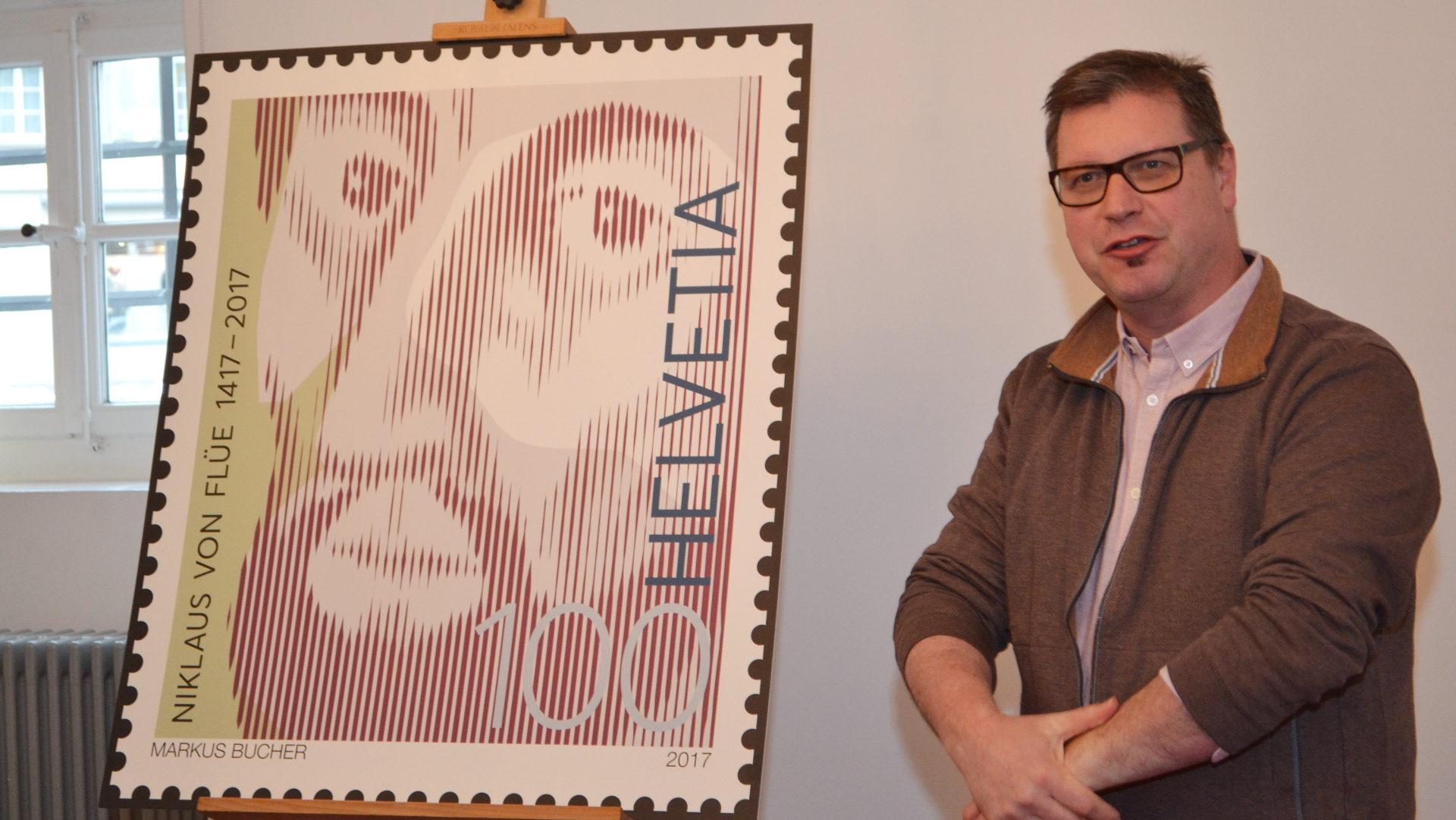 Markus Bucher, Gestalter der Sondermarke | © Sylvia Stam
