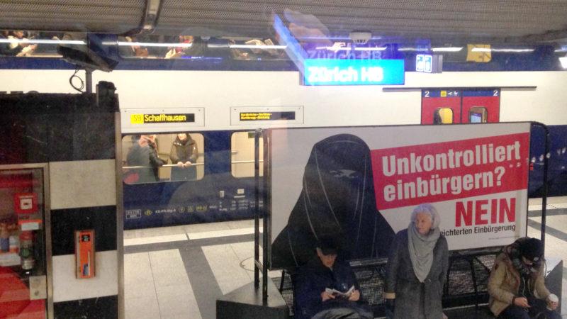 Anti-Burka-Plakat | © Barbara Ludwig
