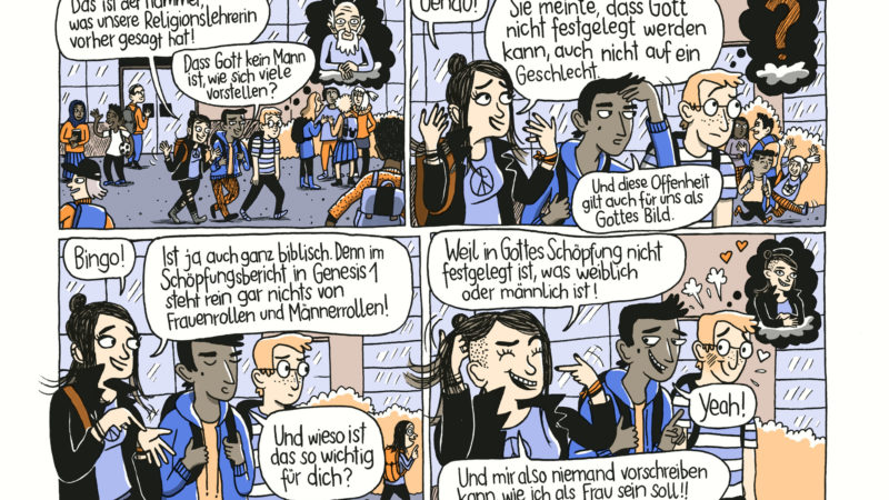 "Comic in ""Let's talk about gender""  