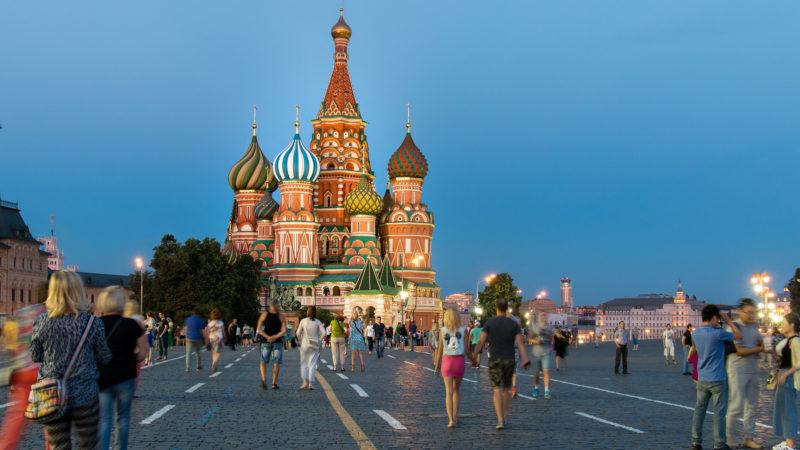 Roter Platz in Moskau mit Basilius-Kathedrale | © pixabay.com