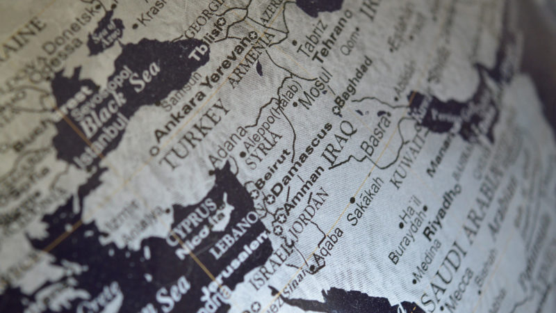 Der Nahe Osten auf einem Globus. | © pixabay.com