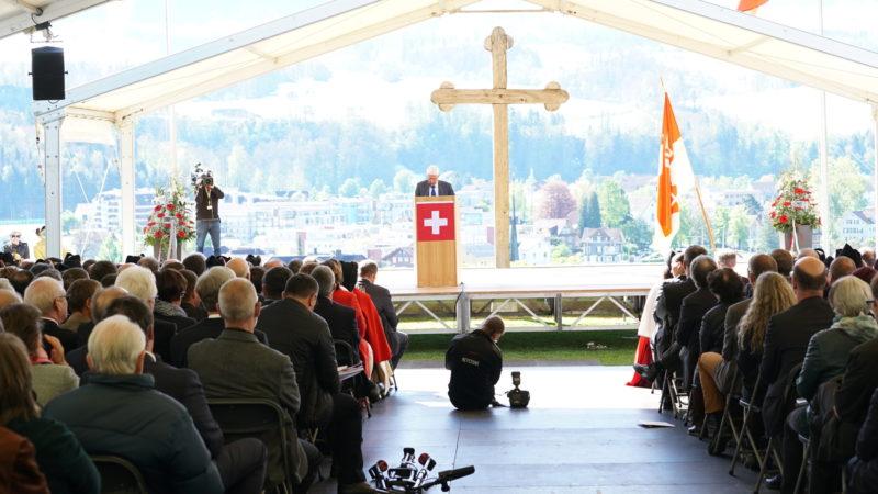 Rednerbühne auf dem Landenberg | © Vera Rüttiman