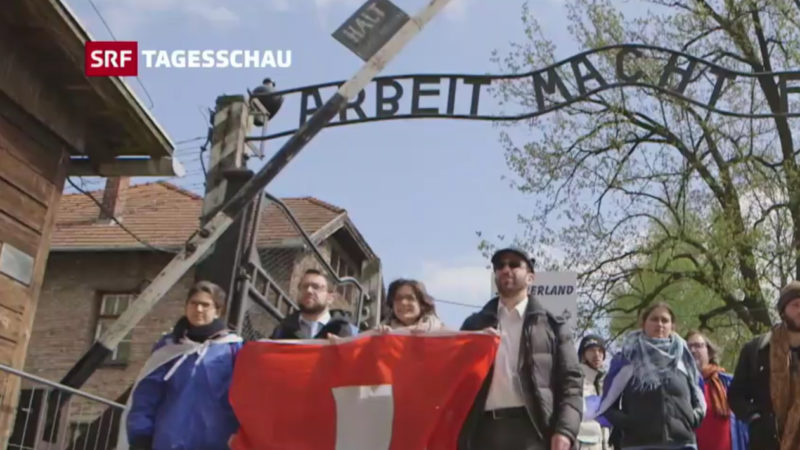 «Marsch der Lebenden» gedachte den Holocaust-Opfern | © screenshot SRF-Player