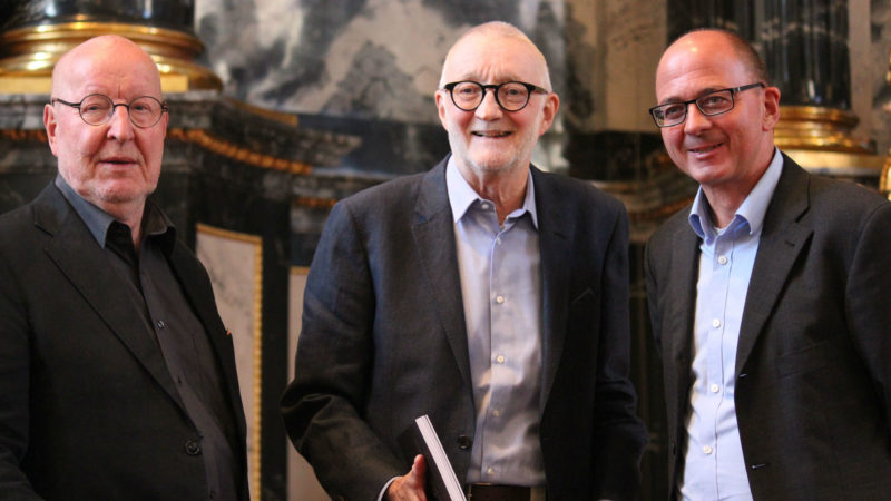 Ivo Ledergerber, Paul Joos und st. gallen kathedrale buch vernissage (v.li.) | © Barbara Camenzind