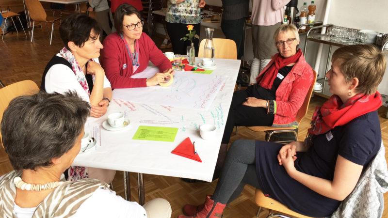 Diskussionsrunde am World Café zur Frauensynode 2020 | © zVg