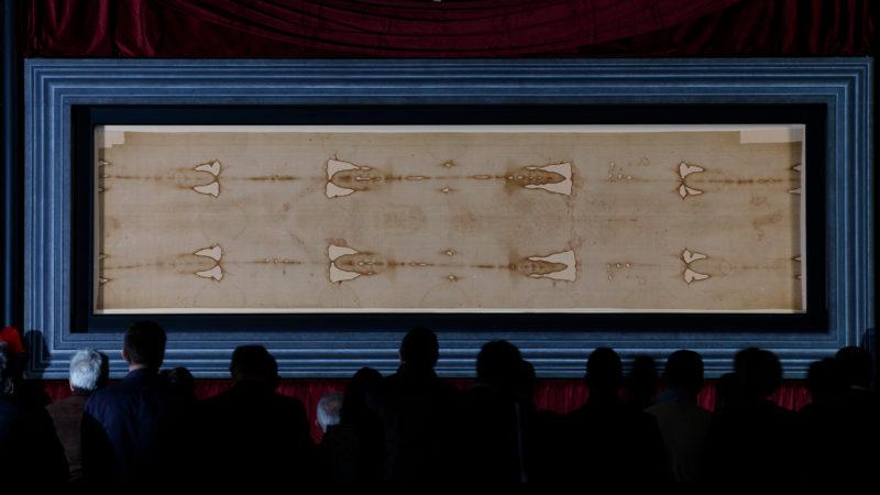Das Grabtuch von Turin im Turiner Dom | © KNA