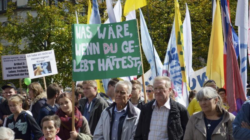 «Marsch fürs Läbe» 2015 in Zürich   © Regula Pfeifer