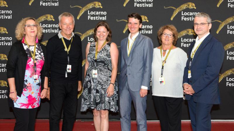 Die Ökumenische Jury 2017 (v.l.) Arielle Domon, Robert K. Johnston, Rinke van Hell, Lukas Jirsa, Monique Beguin, Joachim Valentin | © Locarno Festival