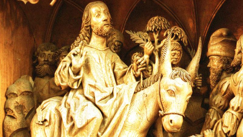 Einzug Jesu in Jerusalem. St. Nicolaikirche in Kalkar bei Düsseldorf | © kna