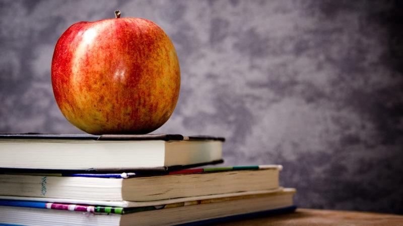 Bücher und Pausenapfel | © pixabay CCO