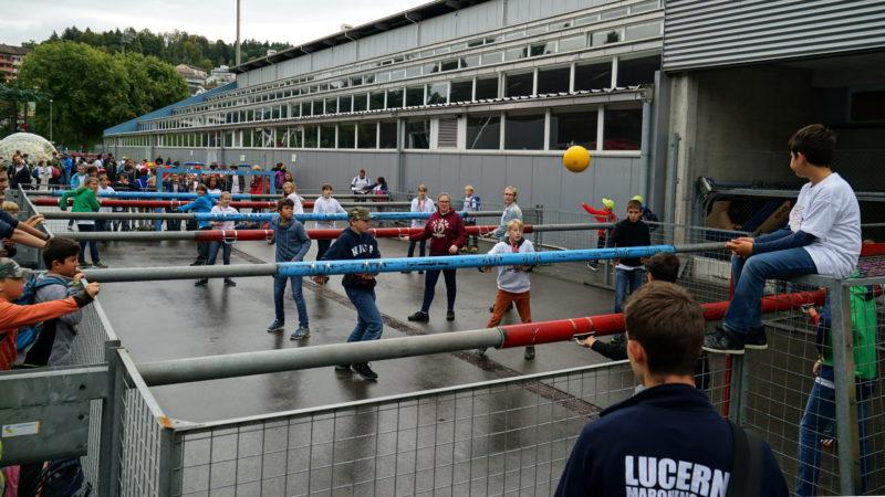 Fussball am Minifest 2017 in Luzern | © Georges Scherrer