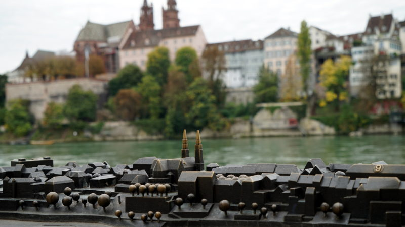 Modell der Stadt Basel am Rhein | © Georges Scherrer