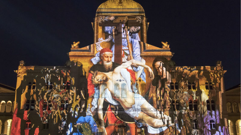 500 Jahre Reformation ist Thema beim diesjährigen Ton- und Lichtspektakels auf dem Bundesplatz Bern | © zVg «Rendez-vous»
