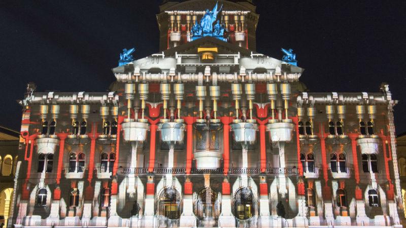 """500 Jahre Reformation ist Thema beim diesjährigen Ton- und Lichtspektakels auf dem Bundesplatz Bern   © zVg """"Rendez-vous"""""""