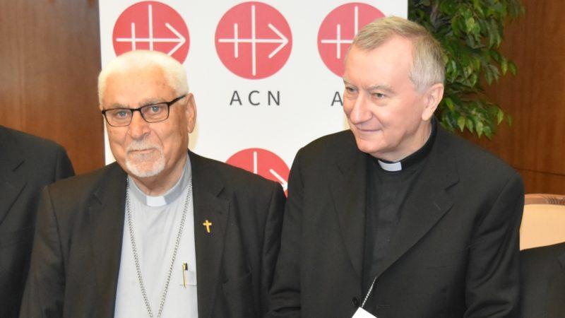 Bischof Yohanna Petros Mouché (links) und Kardinalstaatssekretär Pietro Parolin | © Jacques Berset