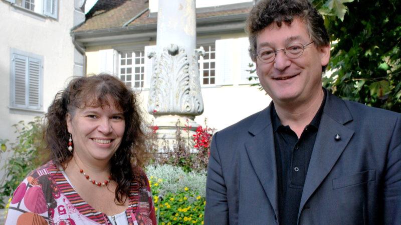 Jeannette Emmenegger, Mentorin, und Agnell Rickenmann, Regens im Seminar St. Beat Luzern | © Barbara Ludwig