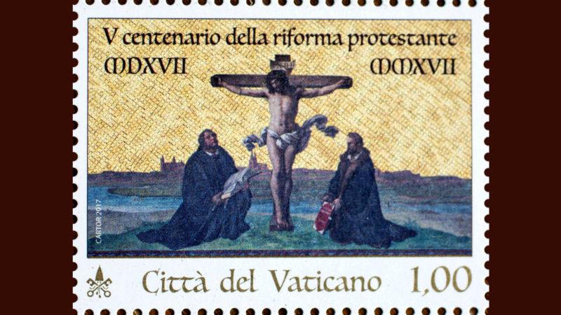 Luther und Melanchthon auf Vatikan-Briefmarke | © KNA