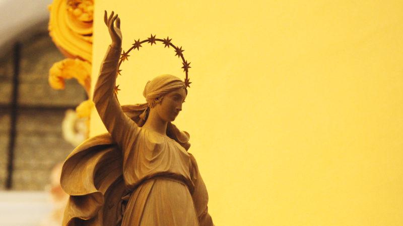 Darstellung Marias, Rückseite der Gnadenkapelle Einsiedeln | © Kloster Einsiedeln