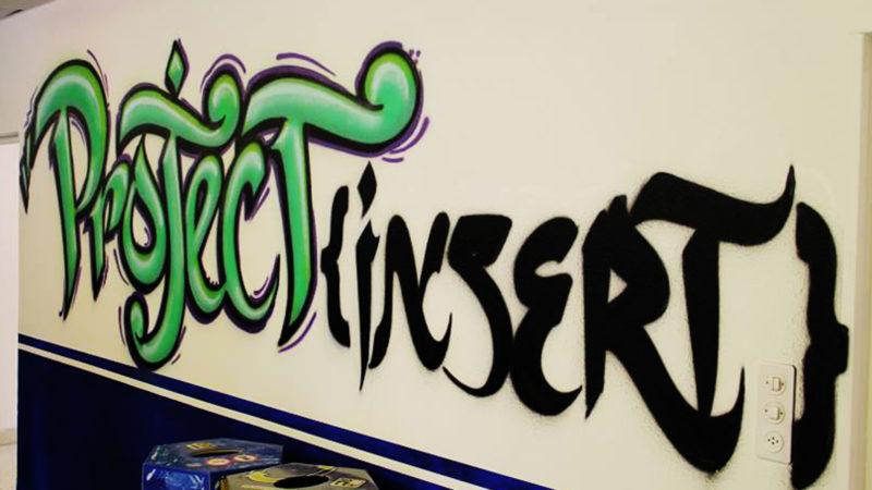 «Project insert» – Graffiti an der Wand | © zVg