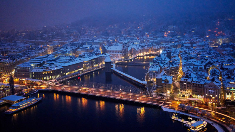 Luzerner Reussbecken im Winter | © Emanuel Ammon/Explo 17