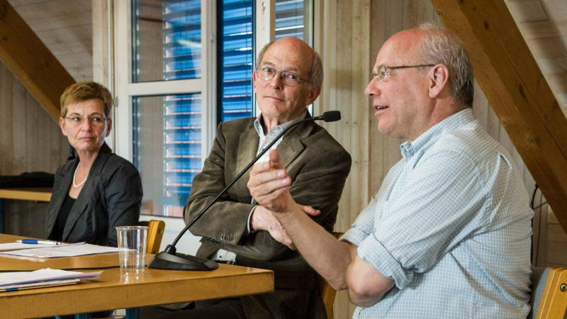 Erwin Koller (Mitte) mit Klaus Mertes und Helga Kohler-Spiegel  | © Vera Rüttimann