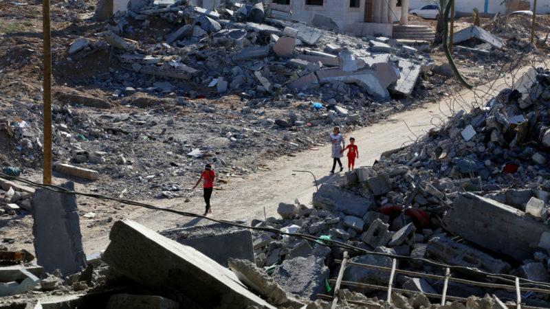 Zerstörte Häuser im Gaza-Streifen, Aufnahme von 2014 | © pixabay.com/badwanart0 CC0
