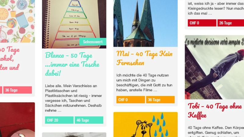 Wie lange schaffst du es ohne?   | ©  screenshot joinmychallenge.ch