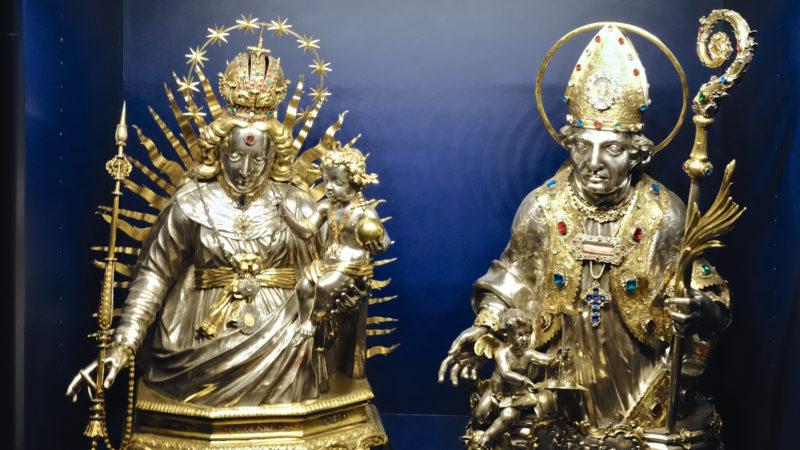 Büsten von Madonna mit Jesuskind und dem Heiligen Leodegar  | © Oliver Sittel