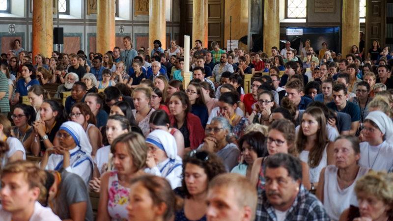 Gottesdienst am Deutschschweizer Weltjugendtag in Zürich im Jahr 2017 | © Georges Scherrer