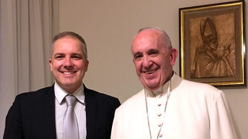 Olivier Fleury bei Papst Franziskus  | © zVg