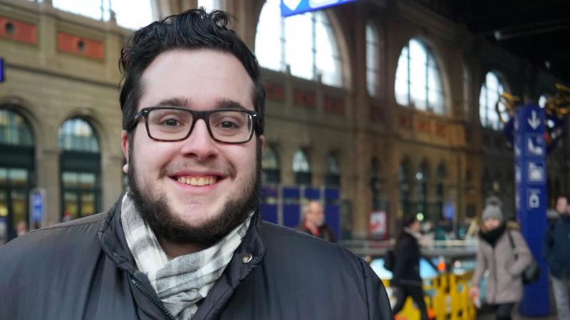 Sandro Bucher, Teilnehmer an der Vorsynode | © Vera Rüttimann