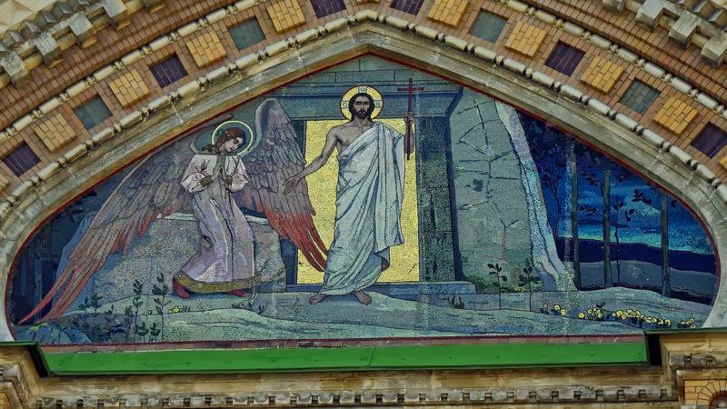 Auferstehung Jesu. Bild auf einer orthodoxen Kirche | © pixabay DEZALB CC0