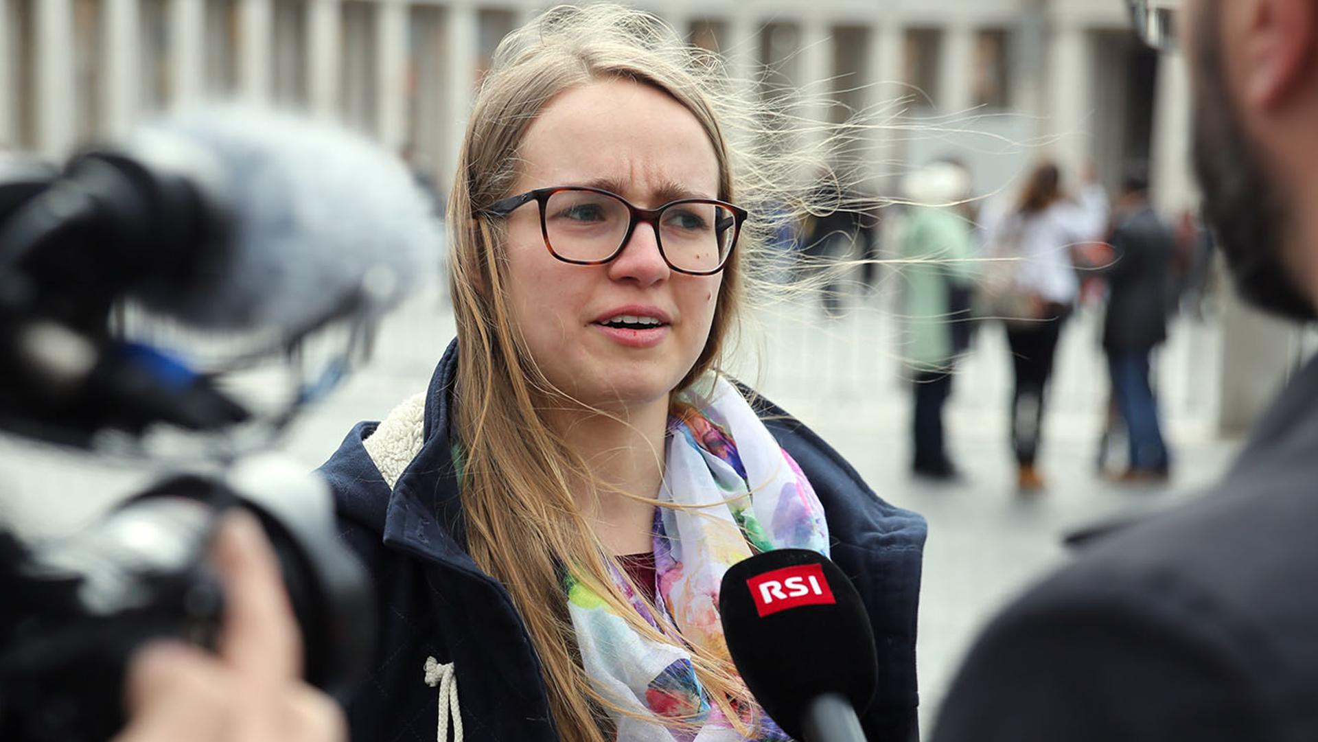 Medea Sarbach, Schweizer Delegierte an der Jugend-Vorsynode in Rom | © Bernard Hallet