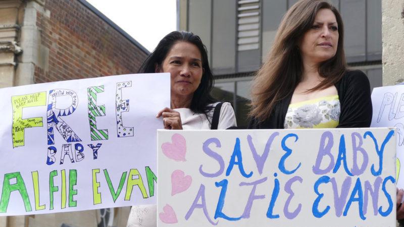 Proteste für Alfie Evans in Oxford | © keystone