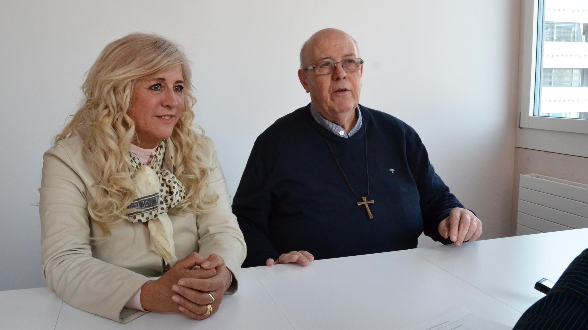 Bischof Martin Happe von Mauretanien und Lucia Wicki-Rensch von Kirche in Not | © Regula Pfeifer