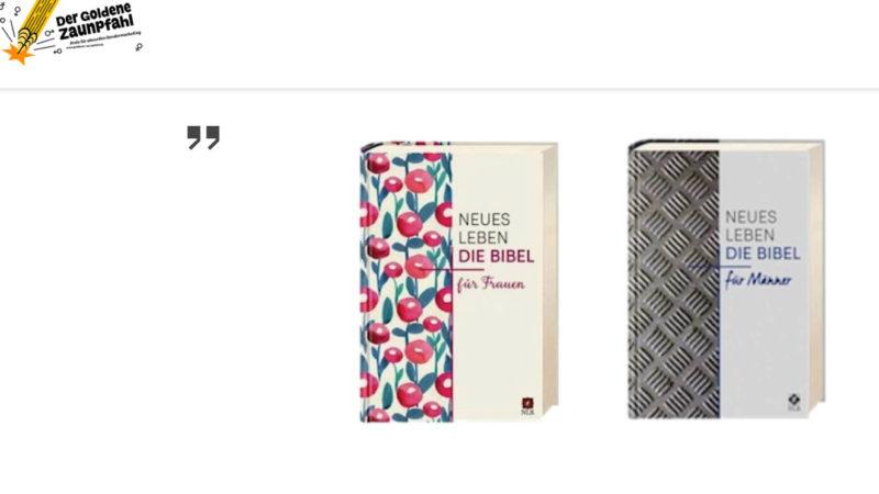 Bibel für Männer und die Bibel für Frauen  | © screenshot goldener-zaunpfahl.de