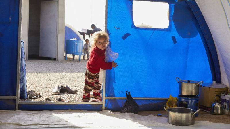 Zur Not aufgestellte Zelte dienen als Häuser  | © zVg Kirche in Not