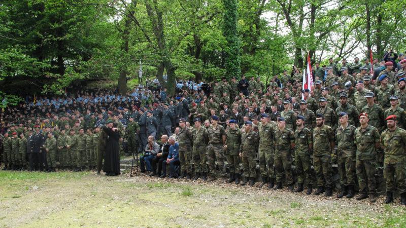 Soldaten an der 60. Internationalen Soldatenwallfahrt in Lourdes, 18. Mai 2018 | © kna