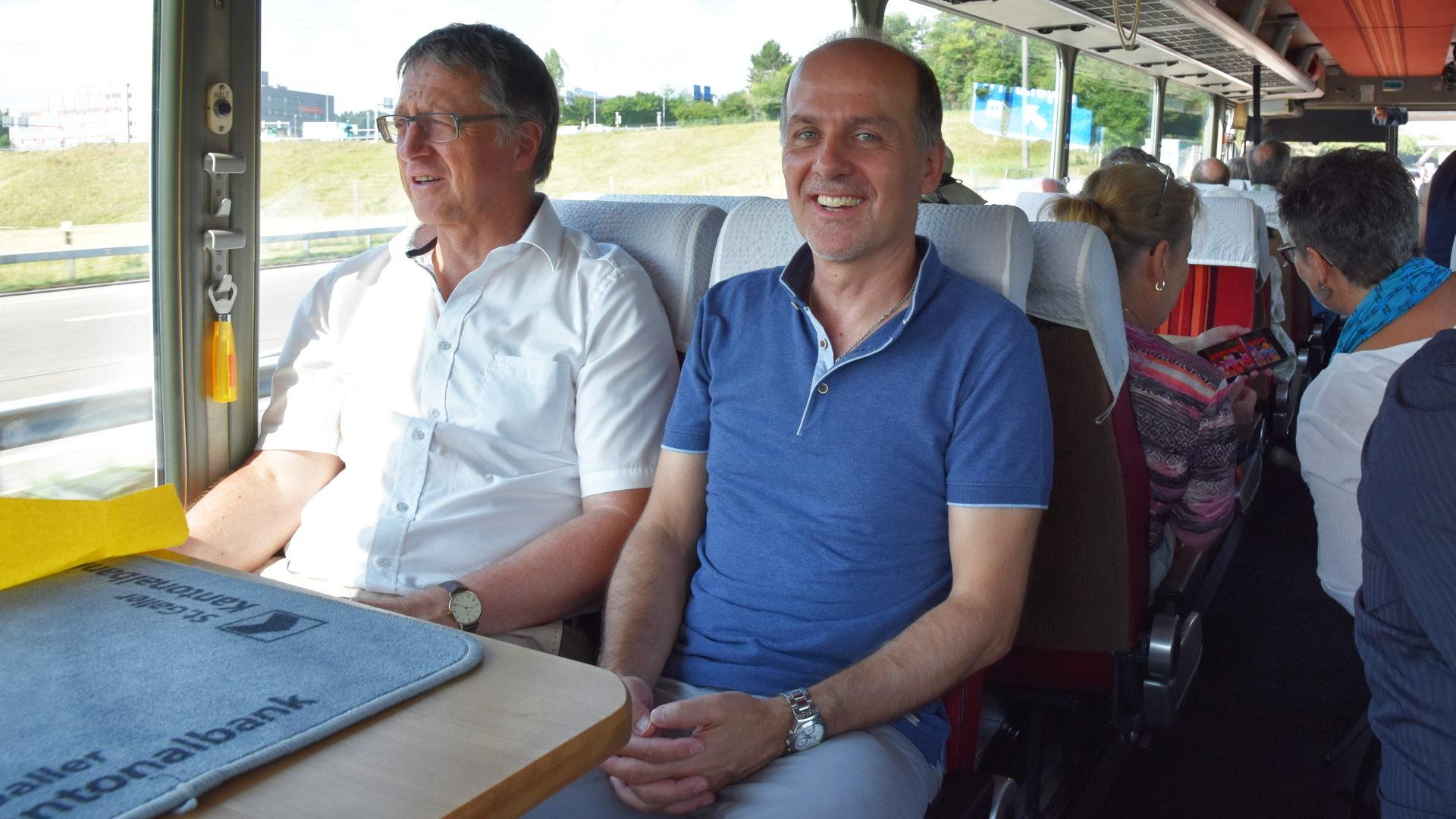 Andreas Raschle (rechts) auf der Fahrt | © Barbara Ludwig
