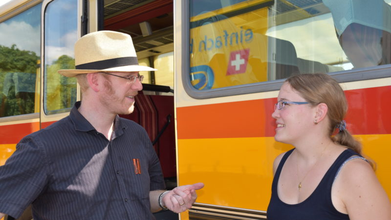 Melanie Keller (rechts) und Roman Rieger von der Cityseelsorge Lebensraum St. Gallen | © Barbara Ludwig