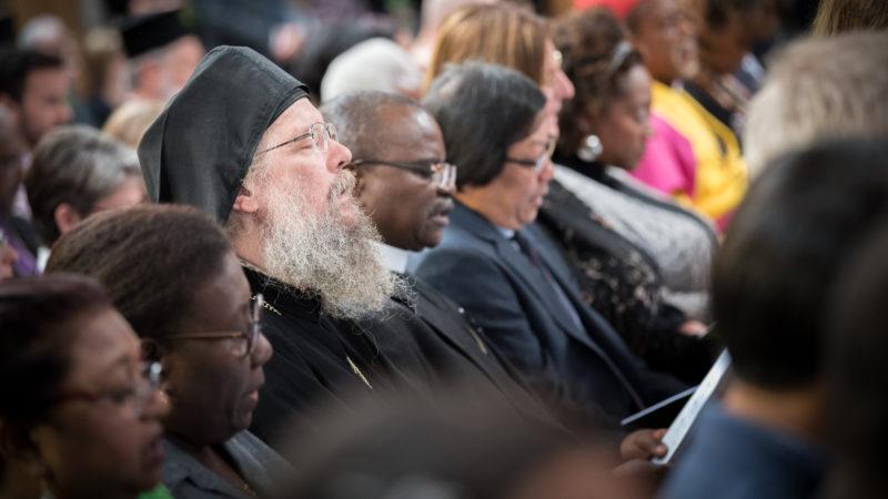 Teilnehmer beim ökumenischen Gebet | © Albin Hillert WCC
