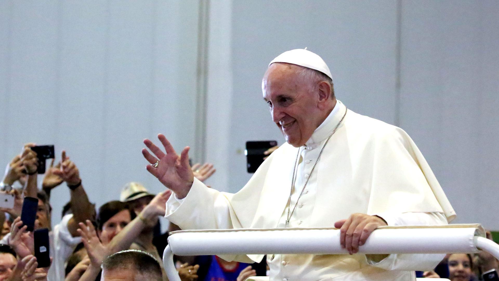 Papst Franziskus in Genf | © Bernard Hallet