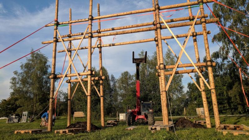 Tor im Kantonslager von Jubla SGAIARGL 2018 in Balgach | © zVG
