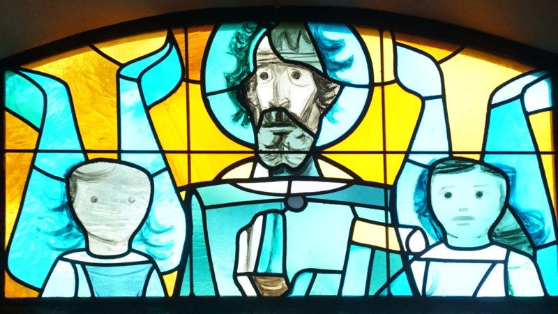 Glasfenster mit Niklaus von Flüe-Darstellung | © Vera Rüttimann