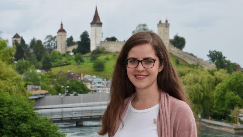 Katarina Dondras vor den Musegg-Türmen Luzern | © Sylvia Stam