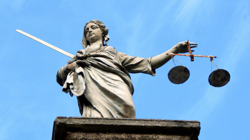 Gerechtigkeitsstatue in Irlands Hauptstadt Dublin. | © pixabay.com CCO