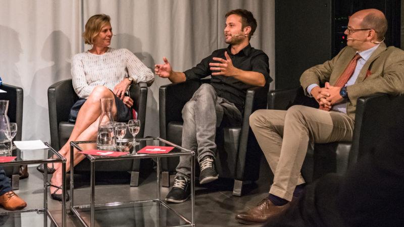 Christine Kopp, Nils Althaus, Georg von Schnurbein @   Susanne Goldschmid / Polit-Forum Bern
