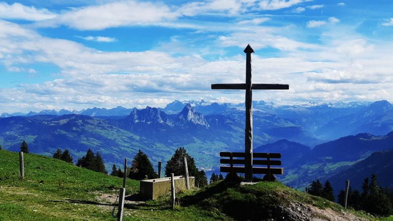 Blick von der Rigi auf den Talkessel Schwyz | © Sylvia Stam