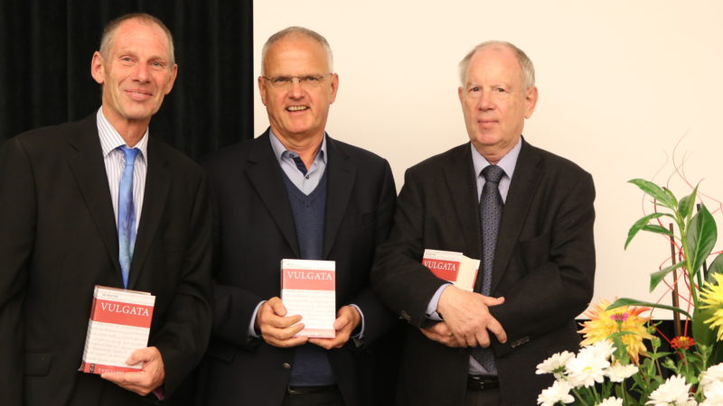 Die drei Herausgeber von links nach rechts: Andreas Beriger, Michael Fieger und Widu-Wolfgang Ehlers | © zVg